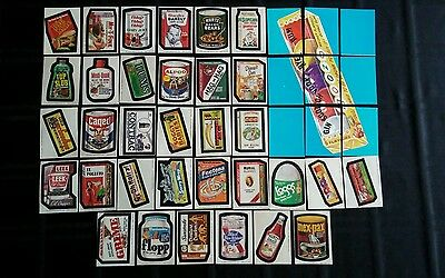 Original Wacky Packages 7th Series Complete Set Of Stickers With Puzzle