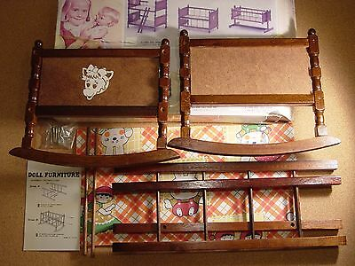 Doll Rocking Cradle NEW (never been assembled) - I believe from the 1950s