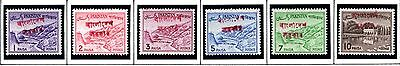 BANGLADESH STAMPS- Definitive 1p to 25p Pakistan overprinted red in Bengali
