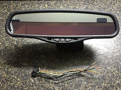 Gentex 221 Auto Dimming Mirror With Compass & LED Map Lights