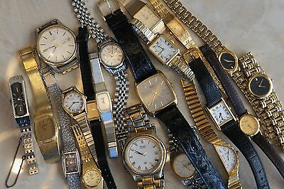 Lot of 20 SEIKO Various Models of Men's & Women's Vintage to Modern Watches