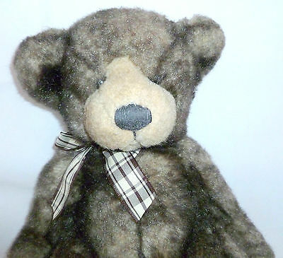 """Beautiful Russ Berrie Brown Plush Cappuccino 14"""" Tall Teddy Bear Collectible"""