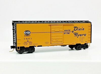 "N Scale ""C&EI"" Dixie Flyers 40' Boxcar by Micro Trains"