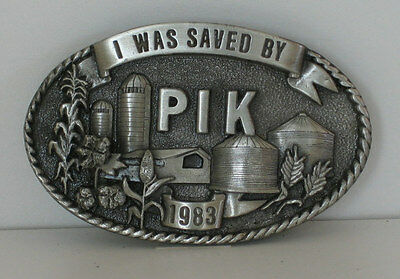 """""""i Was Saved By PIK"""" 1983 Limited Edition Belt Buckle"""