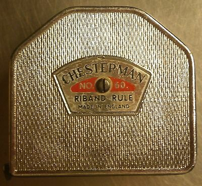 Vintage Chesterman Tape Measure Riband Rule No 60 6Ft Sheffield England