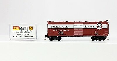 "N Scale PRR ""Merchandise Service"" Boxcar by Micro Trains #PRR 92419"