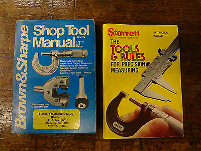 1978 Brown & Sharpe Catalog Starrett Tools and Rules Machinist Booklet