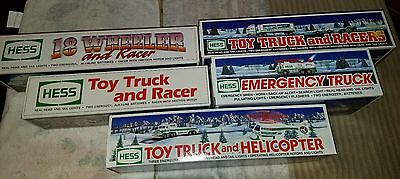 Lot Of 5 Hess Trucks 91-92, 95-97 Original Boxes Vintage Collectibles