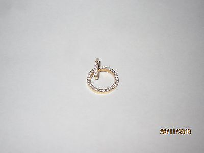 Solid Gold 18k Pendant with Diamonds Circular