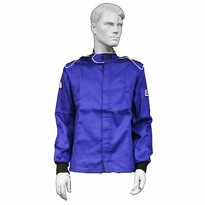 Fire Suit Sfi 3-2A/1 Rjs Elite Driving Racing Jacket Size 2X Blue Pro Street