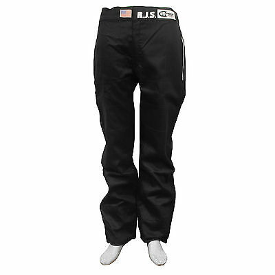 Fire Suit Sfi 3-2A/1 Pants Black 2X Xxl Rjs Racing Elite Ama Imsa Scca Rally Car