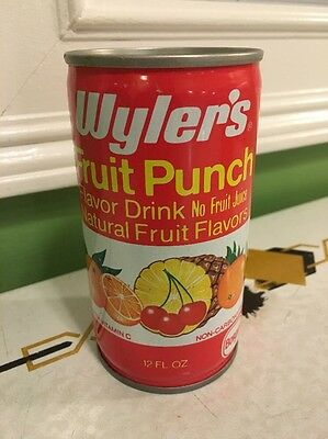 Wyler's Fruit Punch Can Vintage Pull Tab Indianapolis Indiana RARE