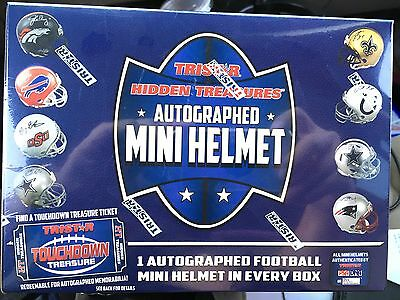 FACTORY SEALED Tristar Hidden Treasures Autograph Football Mini Helmet BLUE BOX!