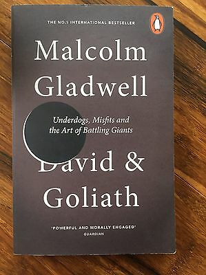 David and Goliath by Malcolm Gladwell Paperback Book