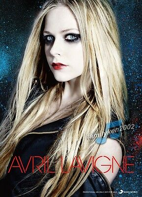Taiwan RARE Promo Poster NEW! AVRIL LAVIGNE rock n roll chad kroeger let me go