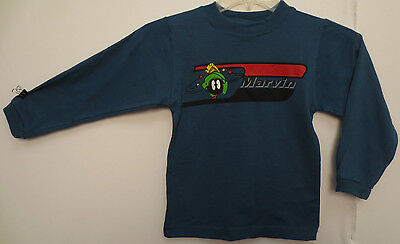 Marvin The Martian Youth Small Longsleeve Shirt Vintage Space Jam Looney Tunes