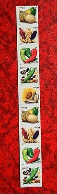 2006 US Stamps SC #4003 - 4007 Crops Plate# Strip of 9  MNH CV:22