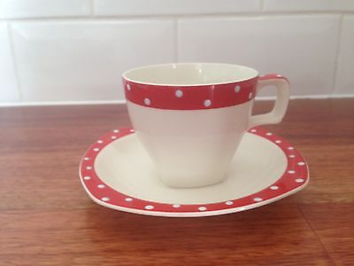 Retro Vintage Polka Dot/Domino Style Craft Midwinter  Cup And Saucer #4 1950's