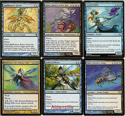 MTG Faerie (Blue Black) Deck - Oona Scion Glen Elendra Liege - Magic Gathering