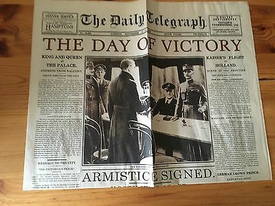 WW1 November 11-14 1918 The day Of victory Armistace Signed The Daily Telegraph