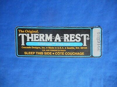 Therm-A-Rest LiteFoam UltraLite 3/4 backpackers sleeping, self inflating