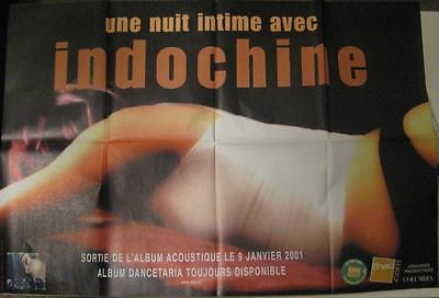 """INDOCHINE AFFICHE/POSTER """"Une Nuit Intime avec..""""  2001   Format 120 x 80"""