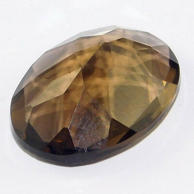 8Cts Gorgeous 100% Natural Smoky Quartz 16X12 Oval Loose Cabochon