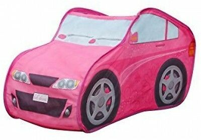Pink Car Tent Kids Playhouse Children Game Toy Christmas Girls Fun Gift New