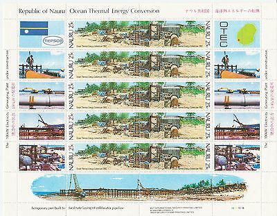 NAURU 1982 Ocean Thermal Energy pairs in complete sheets of 10 & tab, MUH