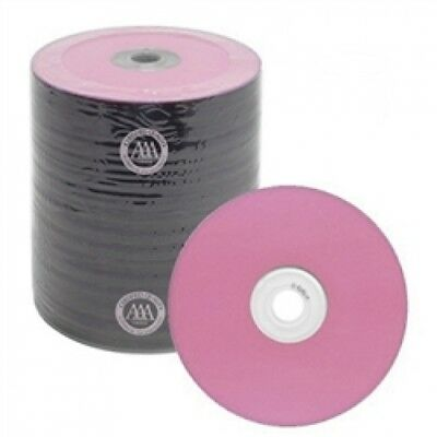 100 Spin-X Diamond Certified 48x CD-R 80min 700MB Pink Color Top Thermal