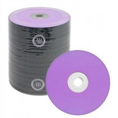 100 Spin-X Diamond Certified 48x CD-R 80min 700MB Purple Color Top Thermal