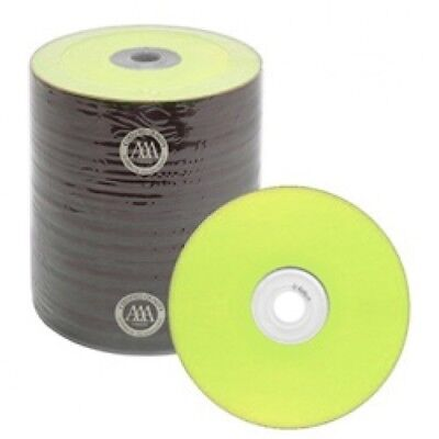 100 Spin-X Diamond Certified 48x CD-R 80min 700MB Yellow Color Top Thermal