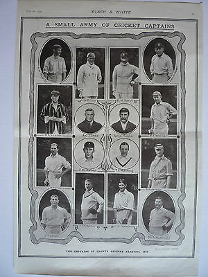 """. """" A Small Army Of Cricket Captains."""" 1910. Very Rare"""