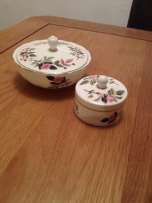 Wedgwood powder bowl and trinket box
