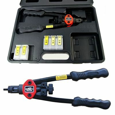 "405536B 12 "" Hand Rivet Nut Kit Repair Tool Gun Riveter Mechanic Manual 3-8MM"