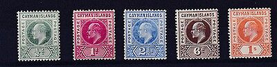 Cayman Islands 1905   S G 8 - 12  Set Of Five  To  One Shilling  M H