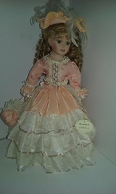 Collectable Homeart Porcelain Doll Gabriella 5127 Stands 48 cm Tall With Stand