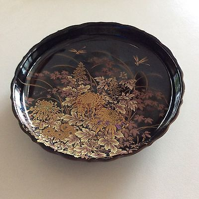 Vintage SHIBATA Porcelain Japanese Plate With Chrysanthemums New With Label