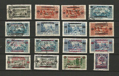 Grand Liban - FRENCH MANDATE  - Overprinted USED SET OF STAMPS  LOT ( LEB 75)