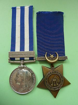 Egypt Medal with Alexandria 11th July Clasp and Khedive's 1882 Star - HMS Superb