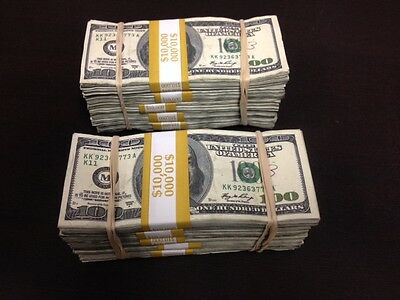 2 $50,000 5 stacks prop money a (great deal)  for Movies, Videos, Tv, Pranks.
