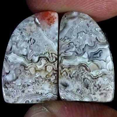 12.50Cts SUPER NATURAL DESIGNER CRAZY LACE AGATE FANCY PAIR CABOCHON GEMSTONE