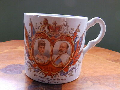 Edward VII, Enthroned in the hearts of their people, 1902, Coronation mug