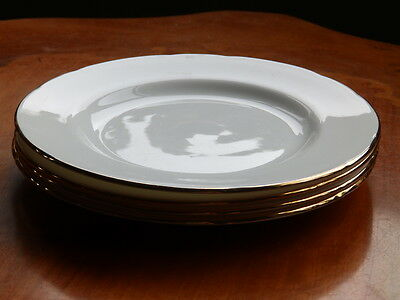 4 Duchess Fine Bone China side plates with gold rim