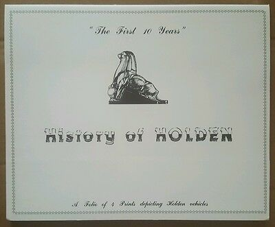 History of Holden prints - The First 10 Years