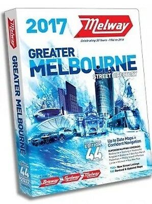 Melway 2017 Melbourne Street Directory Edition 44 - MELWAYS FREE POSTAGE NEW