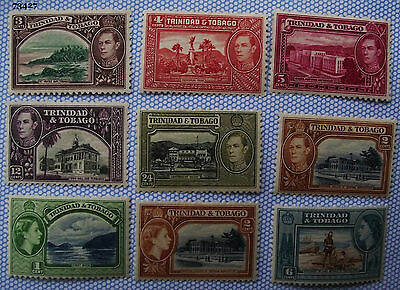 Trinidad and Tobago pack of stamps QEII/GVI mint