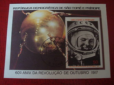 Sao Tome & Principe - 1978 Space - Minisheet - Unmounted Used - Ex Condition