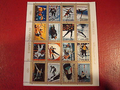 Ajman - Olympic Games  - Minisheet - Unmounted Used - Excellent Condition