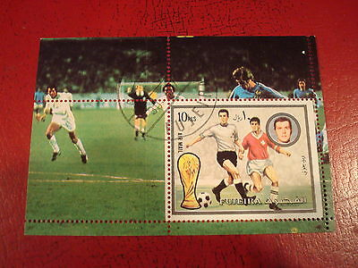 Fujeira - 1978 World Cup  - Minisheet - Unmounted Used - Ex Condition